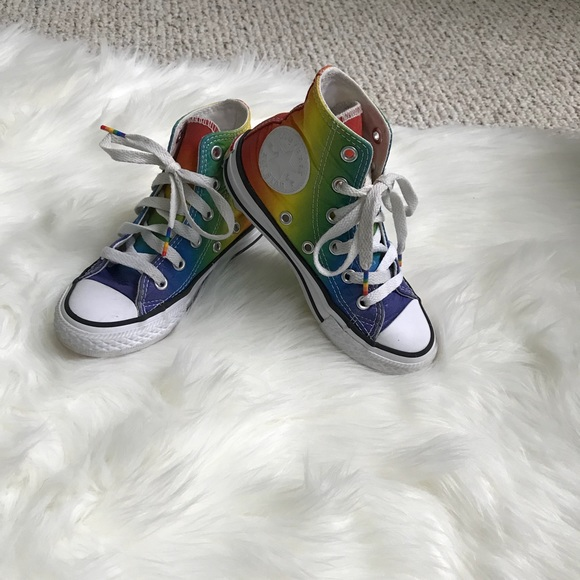 73fe2de56a62 Converse Other - RARE Converse Kids chuck Taylor all star rainbow